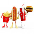 Stock Photo: Group of fast food