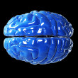 Glossy blue brain — Stockfoto