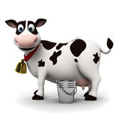 Illustration of a toon cow — Stock Photo