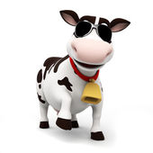 Illustration of a toon cow — Foto de Stock