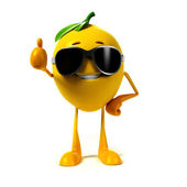 Illustration of a lemon character — Stock Photo
