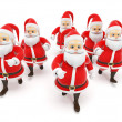 Stock Photo: Some little santas