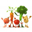Vegetable characters. 3d — Stock Photo