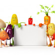 Stock Photo: Vegetable characters. 3d