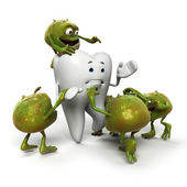 Concept of the disease tooth decay — Stock Photo