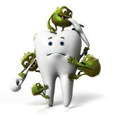 Pojęcie choroby próchnicy zębów — Zdjęcie stockowe