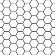 Stock Vector: Hexagonal grid