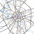 Moscow roads and subway stations map — Stock vektor