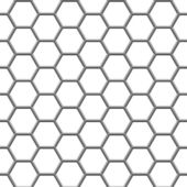 Hexagonal grid — Stock Vector