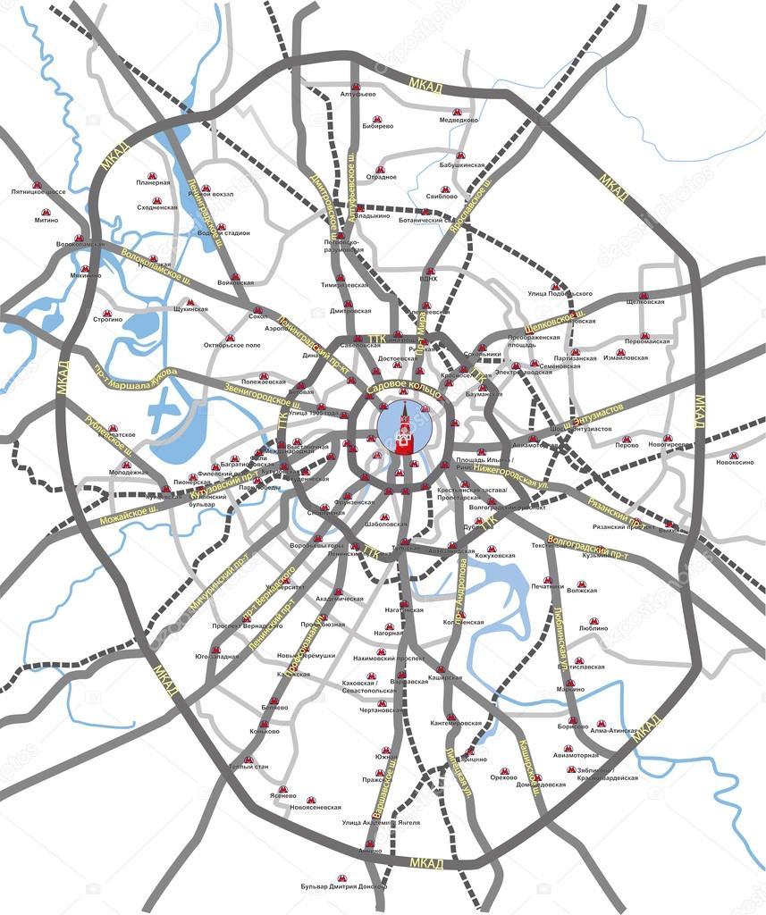 векторная карта москвы - фото 8