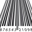 Tilt barcode — Stock Vector
