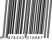 Italic barcode — Stock Vector