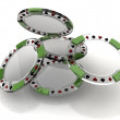 Glass poker chips — Stock Photo