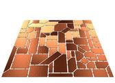 Brown tilt mosaic — Stock Photo