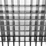 Gray glass rack — Stock Photo #49131337