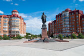 Astrakhan. Monument to Peter — Stock Photo