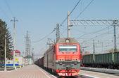 Electric locomotive 2ES6 — Zdjęcie stockowe