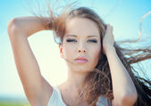Portrait de la belle femme — Photo
