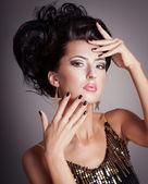 Mode vrouw — Stockfoto