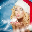 Christmas woman — Foto de stock #13975932