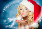Mujer de navidad — Foto de Stock