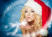 Noel kadın — Stok fotoğraf