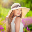 Summer girl portrat — Stock Photo #18641965