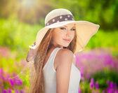 Summer girl portrat — Stock Photo