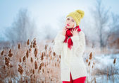 Winter Woman portrait — Foto Stock