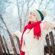 Winter girl — Foto Stock