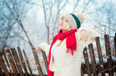 Winter girl — Photo