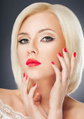 Blonde Frau portrait — Stockfoto