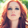 Woman with red hair - Stok fotoğraf