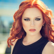Stock Photo: Woman with red hair