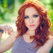 Red-headed girl — Stock Photo #26097985
