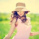 letní žena portrét — Stock fotografie