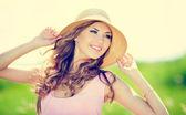 幸せな女 — ストック写真