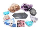 Minerals on a white background — Stock Photo