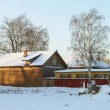 A small wooden house in a snowy forest — Stock Photo #22043517
