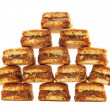 Pyramid of biscuits on a white background — Foto de Stock