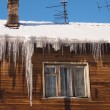 Icicles on a roof  — Stock fotografie