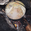 Traditional campfire cooking — 图库照片