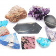 Stock Photo: Minerals on white background