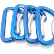 Stock Photo: Climbing carabiner on white background