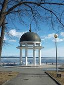 Petrozavodsk: quay of Onega. Spring — Zdjęcie stockowe