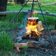 Traditional campfire cooking — Foto de Stock