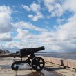 Stock Photo: Gun on quay of Onegin Petrozavodsk, Russia