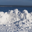 Stock Photo: Snowdrift on lake