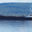 Stock Photo: Barge on lake