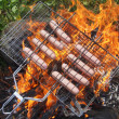 Sausages on the fire — Stock Photo #29649625